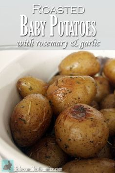 These roasted baby potatoes make a great side and they're so easy to make!