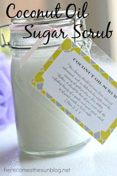 Coconut Oil Sugar Scrub 25+ Mother's Day Gift Ideas | NoBiggie.net