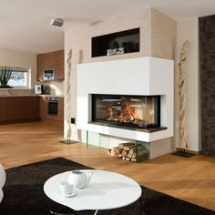 speicherofen durchsichtkamin als raumteiler durchsichtkamin tunnelofen fireplace www. Black Bedroom Furniture Sets. Home Design Ideas