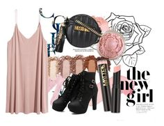 """*** Pink Punk ***"" by veewers ❤ liked on Polyvore featuring Urban Decay, L.A. Girl and Moschino"