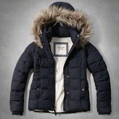 Womens A&F Hooded Puffer Jacket