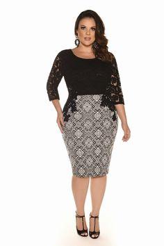 Curvy Inverno 2017 - Fascinius Moda Evangélica Curvy Girl Fashion, Plus Size Fashion, Plus Size Dresses, Plus Size Outfits, African Fashion Dresses, Fashion Outfits, Modelos Fashion, Looks Plus Size, Full Figured Women