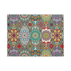 #floral - #Colorful oval various mandalas floral pattern doormat