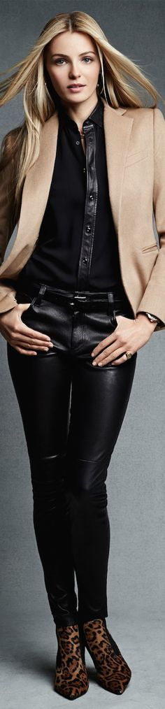 Black Label Stretch-Leather Abbey Pant LOOKandLOVEwithLOLO: Ralph Lauren Black Label New Arrivals