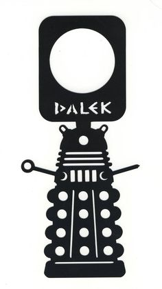 Doctor Who Dalek Door Knob Hanger Thick Plastic Sign Dr Who do not Disturb | eBay