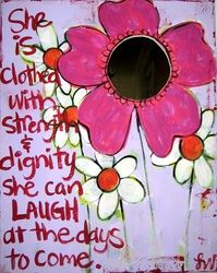 "Vivid art celebrating true feminine beauty and strong truth. Especially created for ""tweens"" and teens."