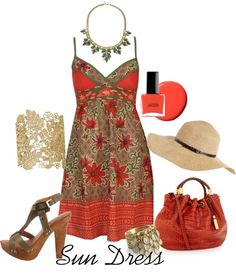 Sun Dress, created by funnygr on Polyvore