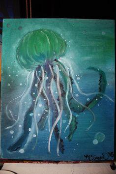 Jellyfish Ocean Art Custom Original Oil by smARTartBYMcSwish