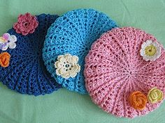 Вяжем крючком берет для текстильной куколки | Ярмарка Мастеров - ручная работа, handmade