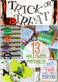 These 13 Printables are sure to make your Halloween spooky, simple, and fun!