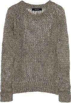 Isabel Marant Eva Open-Knit Linen Sweater - Lyst