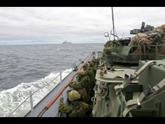Aboard French Marine Nationale BPC Mistral amphibious assault ship carrying Canadian 5th Mechanised Brigade during exercises around Qubec, Canada, June 2014.