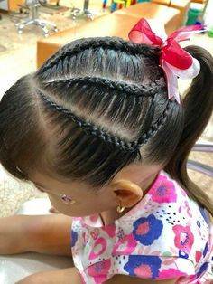 Save by Hermie Baby Hair Dos, Hair Dos For Kids, Girl Hair Dos, Little Girl Hairdos, Baby Girl Hairstyles, Pretty Hairstyles, Braided Hairstyles, Children Hairstyles, Kid Braid Styles