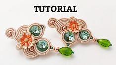 Soutache Tutorial, Soutache Pattern, Earring Tutorial, Soutache Jewelry, Beaded Earrings, Beaded Jewelry, Crochet Earrings, Beading Tutorials, Beading Patterns