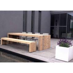 Trend Plo New York Gartentisch Edelstahl Teak xcm Metall Holztische Tische Gartenm bel von Garten u Freizeit Haus am See Pinterest Haus