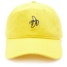 Forever 21 Men Banana Graphic Baseball Cap ($9.90) ❤ liked on Polyvore featuring men's fashion, men's accessories, men's hats, mens hats, mens baseball caps, mens ball caps and mens baseball hats