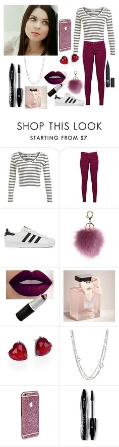 """something dark dark red to whiteblack."" by directioner-for-all-my-life ❤ liked on Polyvore featuring Miss Selfridge, Great Plains, adidas, Abercrombie & Fitch, Adriana Orsini, David Yurman and Lancôme"