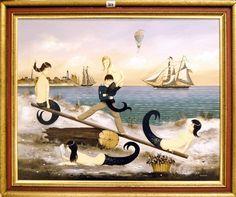 Mermaid Images, Deep Sea Creatures, Mermaids And Mermen, Nymph, Sirens, Folk Art, Nautical, Mermaid Paintings, Seahorses