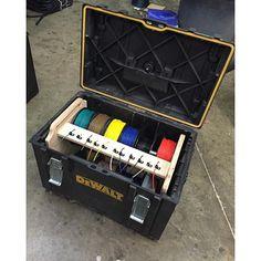 dewalt tough system Dewalt Storage, Van Storage, Tool Storage, Garage Storage, Woodshop Tools, Garage Tools, Dewalt Tough System, Van Racking, Electrical Projects