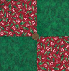Trees Flakes Deep Green 4 inch Fabric Quilt Squares Block zs1 #SpotMore