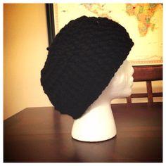 Black Crochet Beanie on Etsy, $17.00