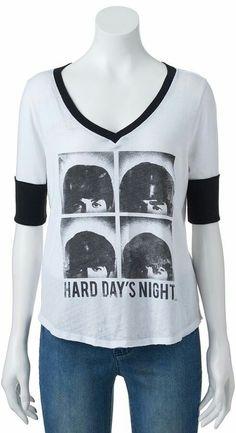 Hards days night shirt Beatles shirt Classic rock fan