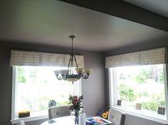Casual Box Pleat valances - Susan Sykes Decorating Den Interiors (Ottawa area) designer