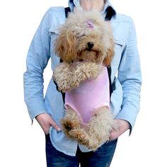 Pet Bag Dog Supplies Cat Carrier Five Holes Backpack Front Chest Backpack Pink Light Blue Black Pet Products