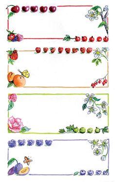 Avery Zweckform Z-Design No. 59652 papír matrica befőttes üvegre - gyümölcs mintával és színes kerettel - kiszerelés: 3 ív / csomag (Avery Z-Design 59652) Canning Labels, Jar Labels, Printable Labels, Printable Paper, Diy Paper, Paper Crafts, Felt Flowers Patterns, Decoupage, Felt Crafts Diy