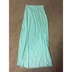 NWT Mint Maxi Skirt Brand new! Smoke & Pet Free home! Mint color Skirts Maxi