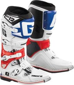 Gaerne SG-12 Motocross Boots , Primary Color: Red, Size: 14,...