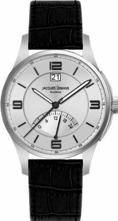Jacques Lemans Men's 1-1640B London Classic Analog Watch Jacques Lemans. $109.45. Classic watch dualtime. Case diameter: 43 mm. Quartz movement. Water-resistant to 100 m (330 feet). Hardened crystex crystal