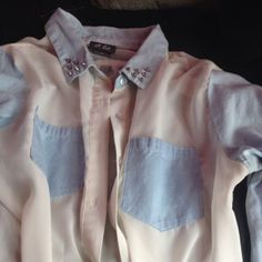 my fav button up shirt by Devyn Scott Personal Taste, March 2014, Button Up Shirts, Ruffle Blouse, Buttons, Tops, Women, Style, Fashion