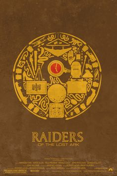 Raiders of the Lost Ark, by Maxime Precourt, minimalist movie poster