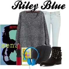 Riley Blue | Sense8 by fandomimagineshere on Polyvore featuring River Island, Penny Loves Kenny, Laundromat, Rimmel, American Apparel, sense8 and rileyblue