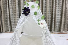 Floral Teepee Topper - Floral Garland by NestleInATeepee on Etsy