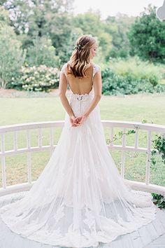 Have your photographer take detailed pictures that show off just the back of your gown.