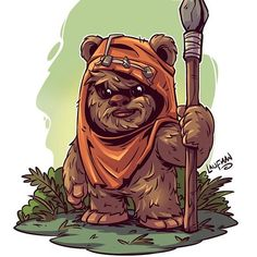 I don't think I ever posted this. Kinda hard to call this one a Chibi since Ewoks are already Chibi like:P Just a reminder that my print packs are all on sale until Monday at www.dereklaufman.com (link in my profile) Sorry for all the Sales spam over...