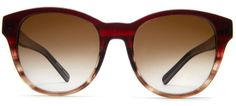 front Tenley Burgundy Fade Sunglasses