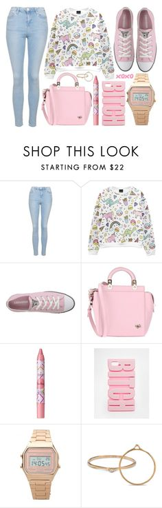 """""""street style"""" by sisaez ❤ liked on Polyvore featuring Topshop, Converse, Givenchy, tarte and ASOS"""