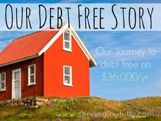 Our Debt Free Story | This family got out of debt on a low income! See how they cut their budget and handled obstacles that came up.