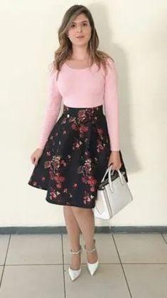 Womens Stylish Office Wear – Women's Fashion Styles and Trends Modest Fashion, Girl Fashion, Fashion Outfits, Womens Fashion, Fashion Styles, Skirt Outfits, Dress Skirt, Casual Outfits, Midi Skirt