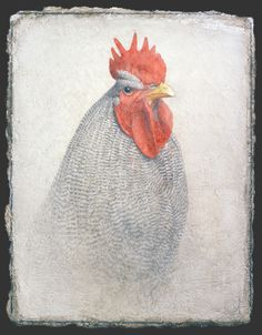 Victor KOULBAK 40ak (362x464, 183Kb) Collages, Renaissance, Silverpoint, Figure Painting, Animal Drawings, Gouache, Illustrations, Rooster, Portraits