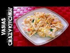 Κοτοσαλατα Μακαρονοσαλατα Της Βασουλας – Δροσερη Κοτοσαλατα Με Μακαρονια - Chicken Salad Best Recipe - YouTube Crazy Kitchen, Macaroni Salad, Chicken Salad, Potato Salad, Cauliflower, Spicy, Spaghetti, Potatoes, Vegetables