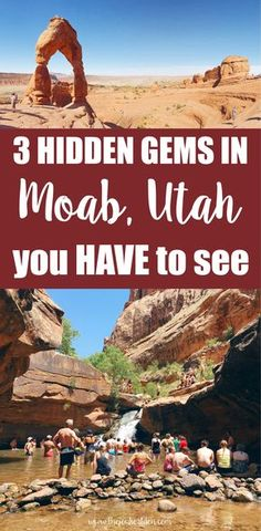 3 hidden gems in Moab you HAVE to see There are so many things to do in Moab, Utah besides the national parks! Here's 3 hidden gems in Moab you have to see. Utah Vacation, Vacation Spots, Cruise Vacation, Disney Cruise, Vacation Ideas, Zermatt, Oh The Places You'll Go, Places To Travel, Utah Parks