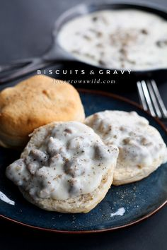 This super simple Biscuits and Gravy recipe is pure breakfast comfort food! Get the recipe at LoveGrowsWild.com