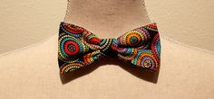 Multi Color Circle Print Men's Bow Tie by fancyfreeboutique on Etsy