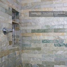 Strip Cladding Shower Stall