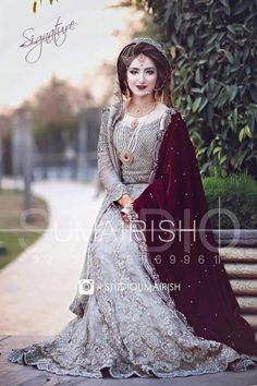 2072 best pakistani bridal wear and formal dresses images Pakistani Wedding Outfits, Pakistani Wedding Dresses, Bridal Outfits, Indian Dresses, Dress Wedding, Pakistani Bridal Makeup, Bridal Lehenga, Bridal Dress Design, Bridal Style