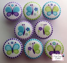 BEAUTIFUL BUTTERFLY KNOBS Made to Match Nojo by Pinksugarcouture